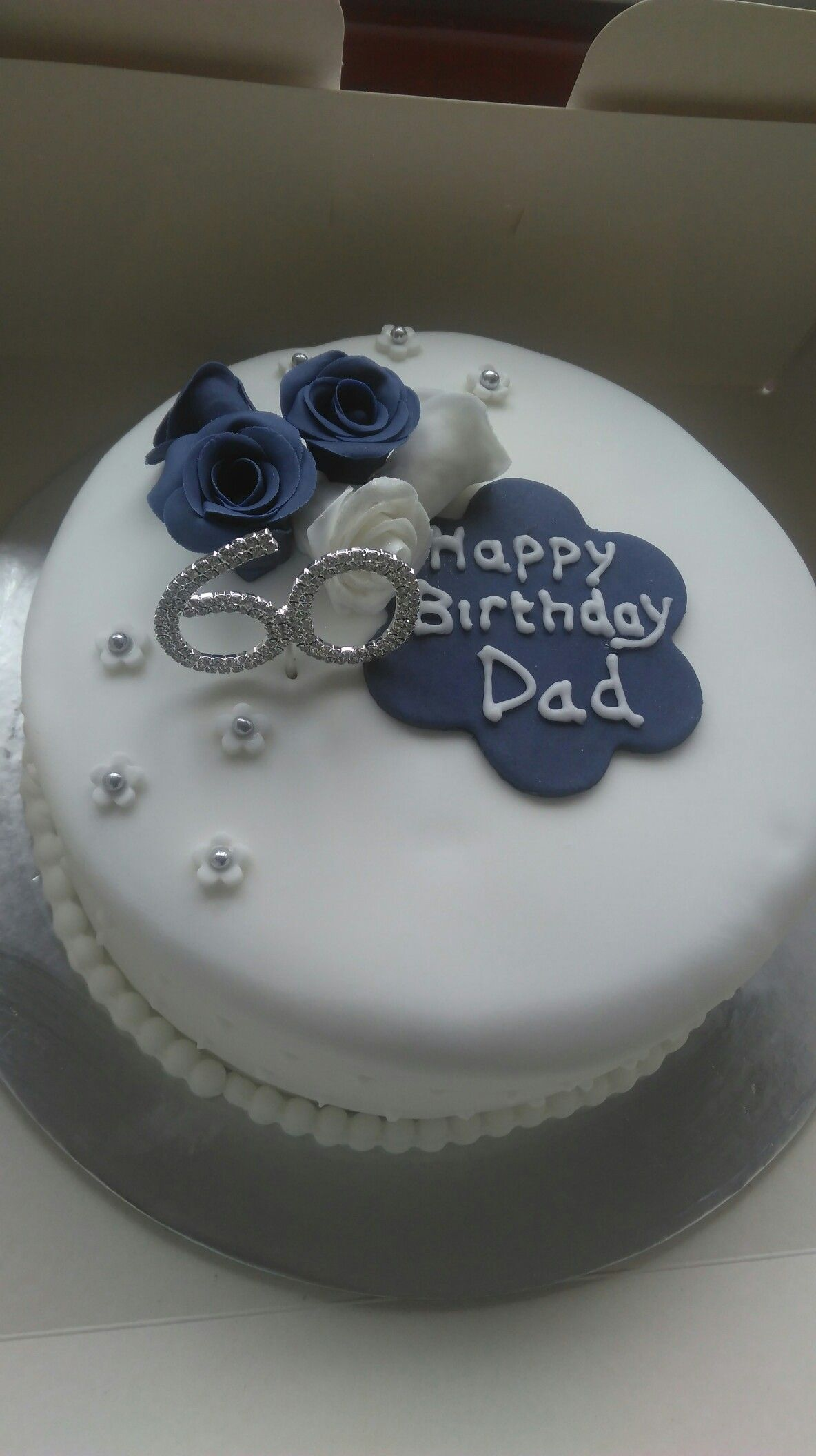 Birthday Cake Designs For Dad : Floral 60th birthday cake for my dad. My home bakes ...