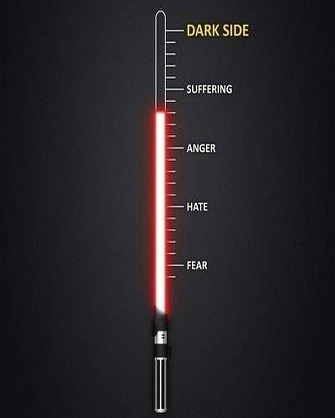 The path to the dark side #starwars #thedarkside #lightsaber