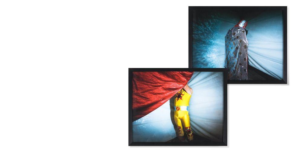 2x Luchadors 1 & 4, 50 cm x 40 cm, édition limitée de Camille Zurcher