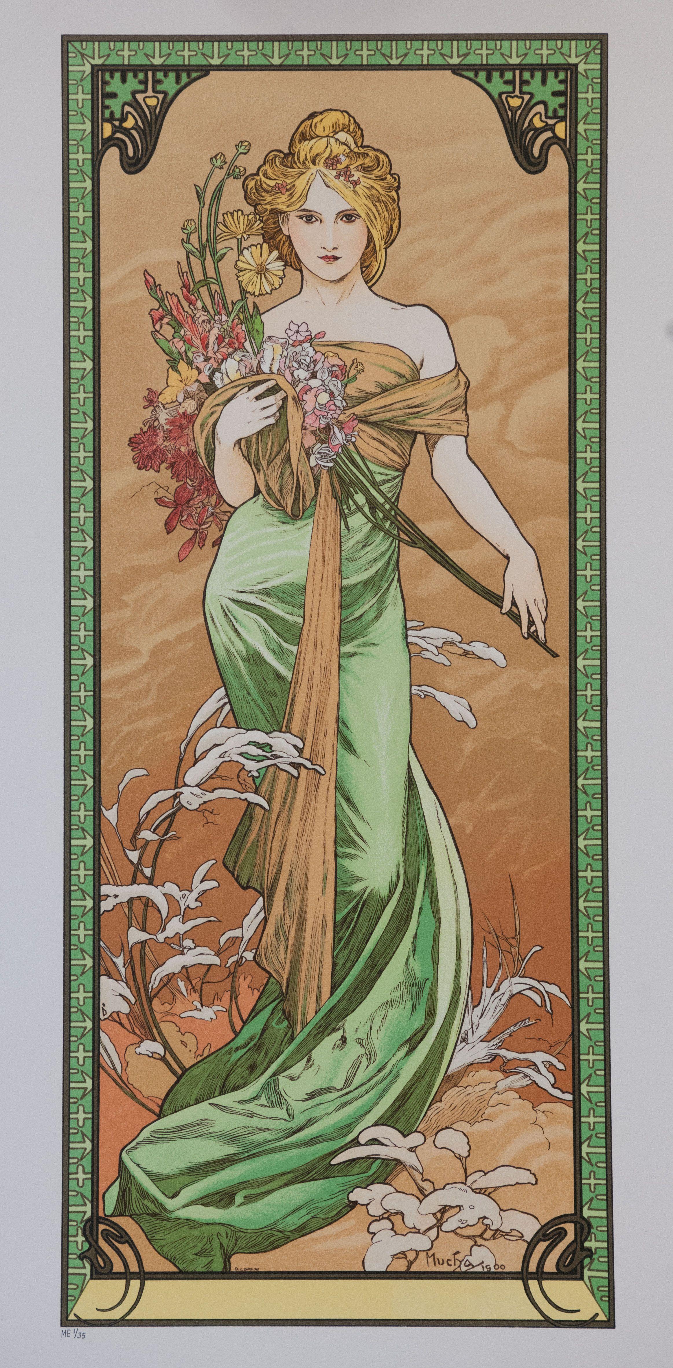 Spring 1900 Alphonse Mucha In 2019 Art