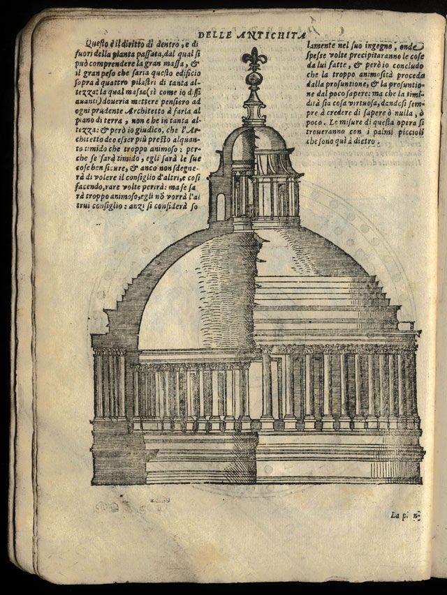 Sebastiano serlio terzo libro d 39 architettura disegno del for Disegno del piano di architettura