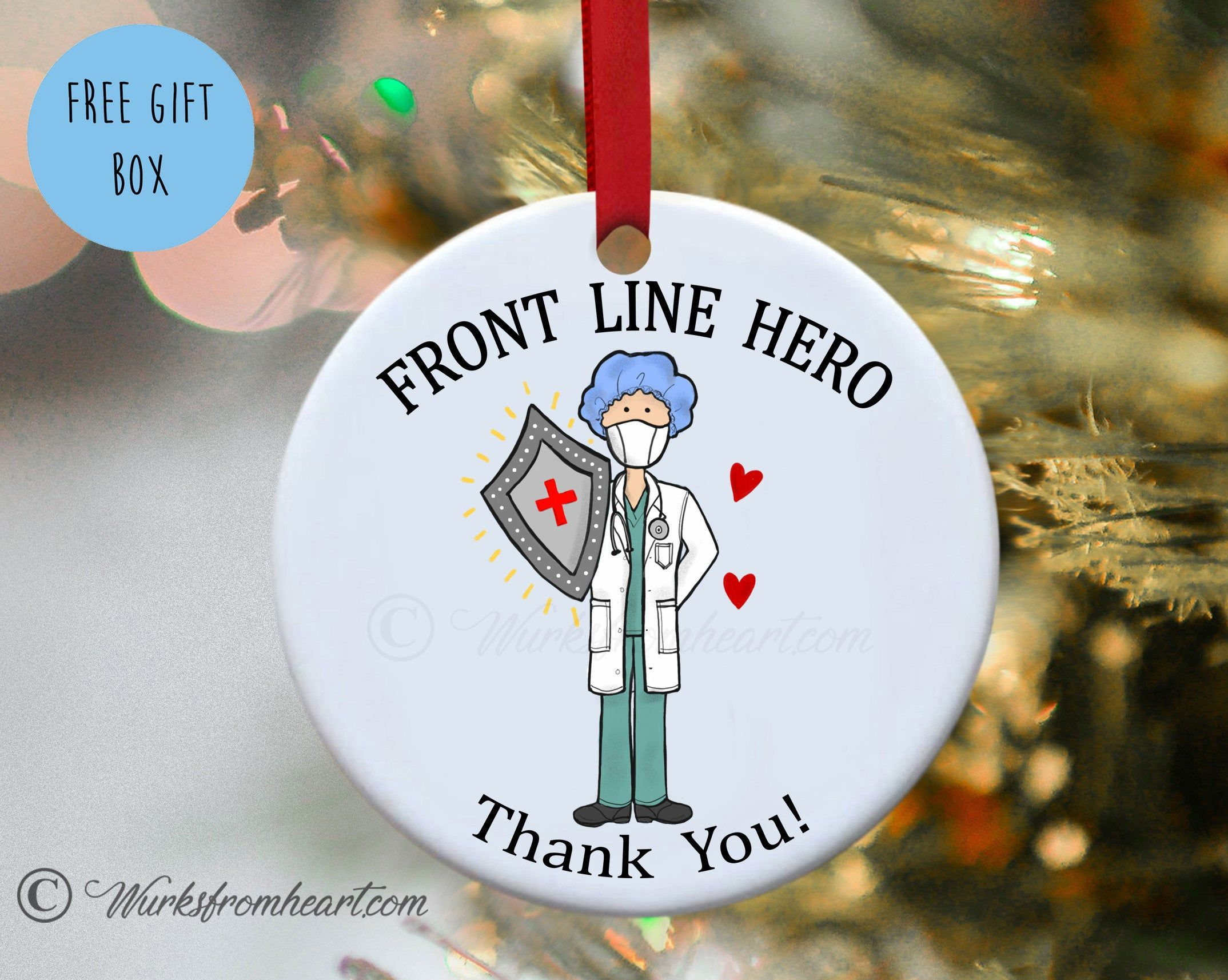 Front line hero male doctor essential medical worker