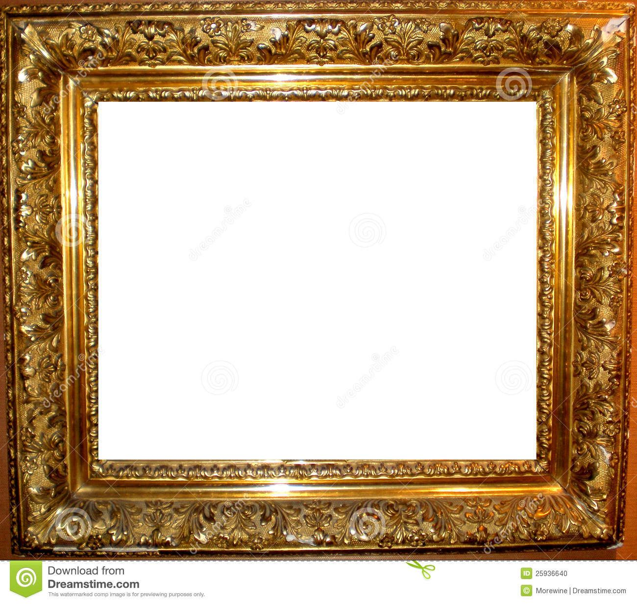 Vintage Antique Gold Frame Stock Photo - Image: 25936640 | christmas ...