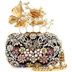 Alexander McQueen Embellished Box Clutch