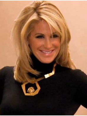 Sliky shoulder length Kim Zolciak Wig are natural and comfortable. Buy celebrity…