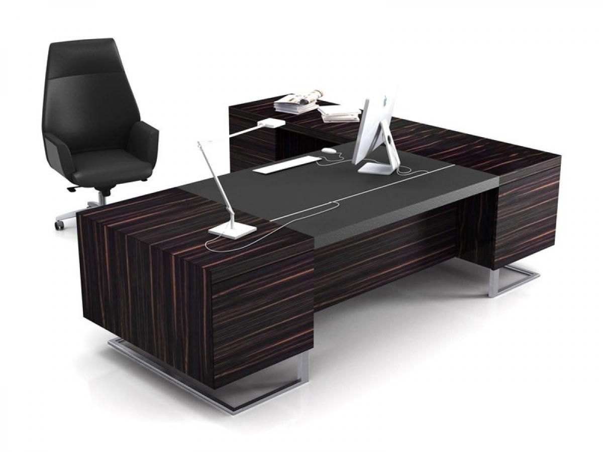 Modern executive office design 4 elegant black for Table design for office