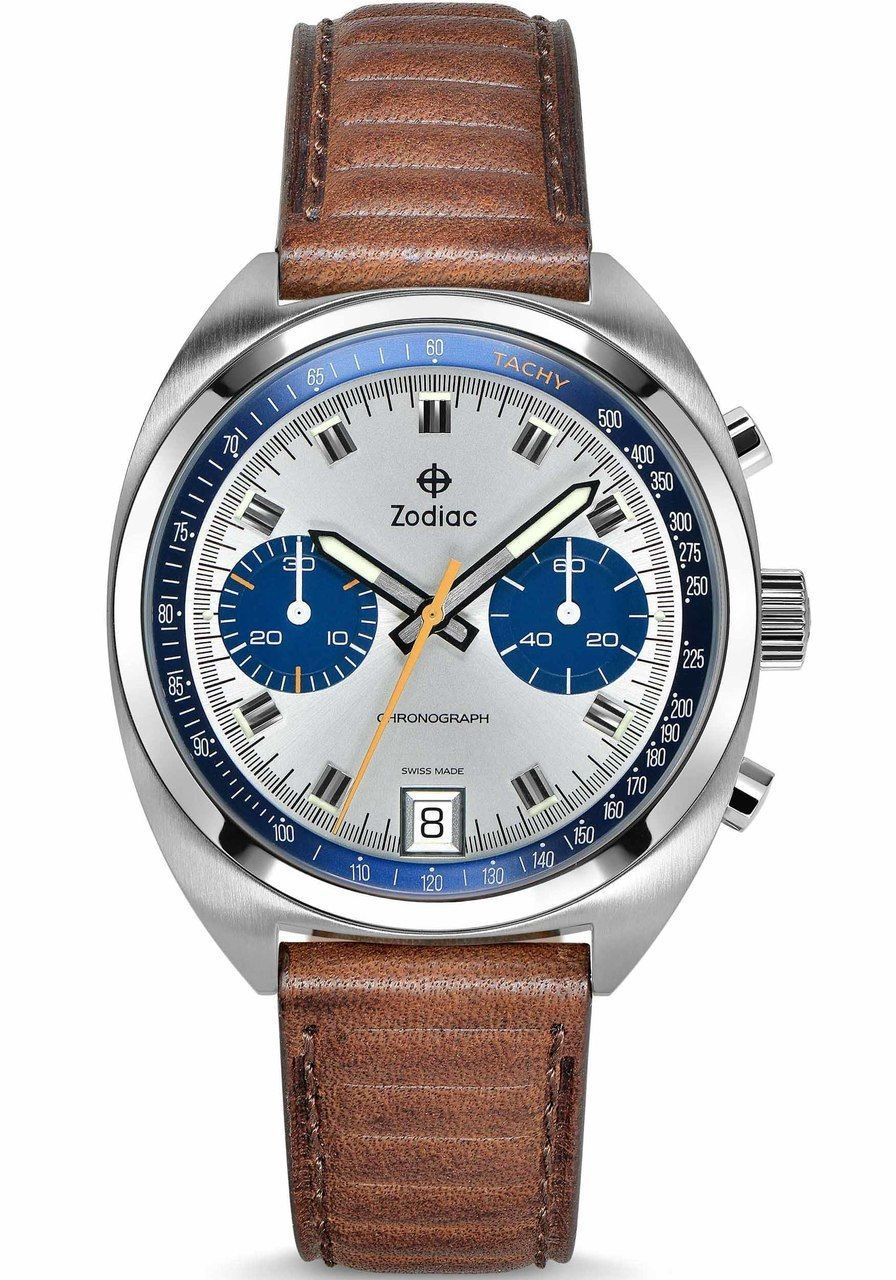 2909e2595 Zodiac ZO9604 Grandrally Silver Blue   Wristwatches I Dig   Zodiac ...