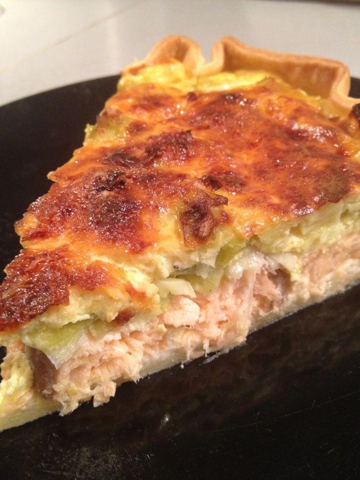 Tourte poireaux saumon frais recettes recette tarte poireaux saumon et saumon frais - Cuisine legere au quotidien ...