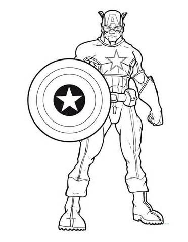 Printable Captain America Coloring Pages Coloring Me Pictures To