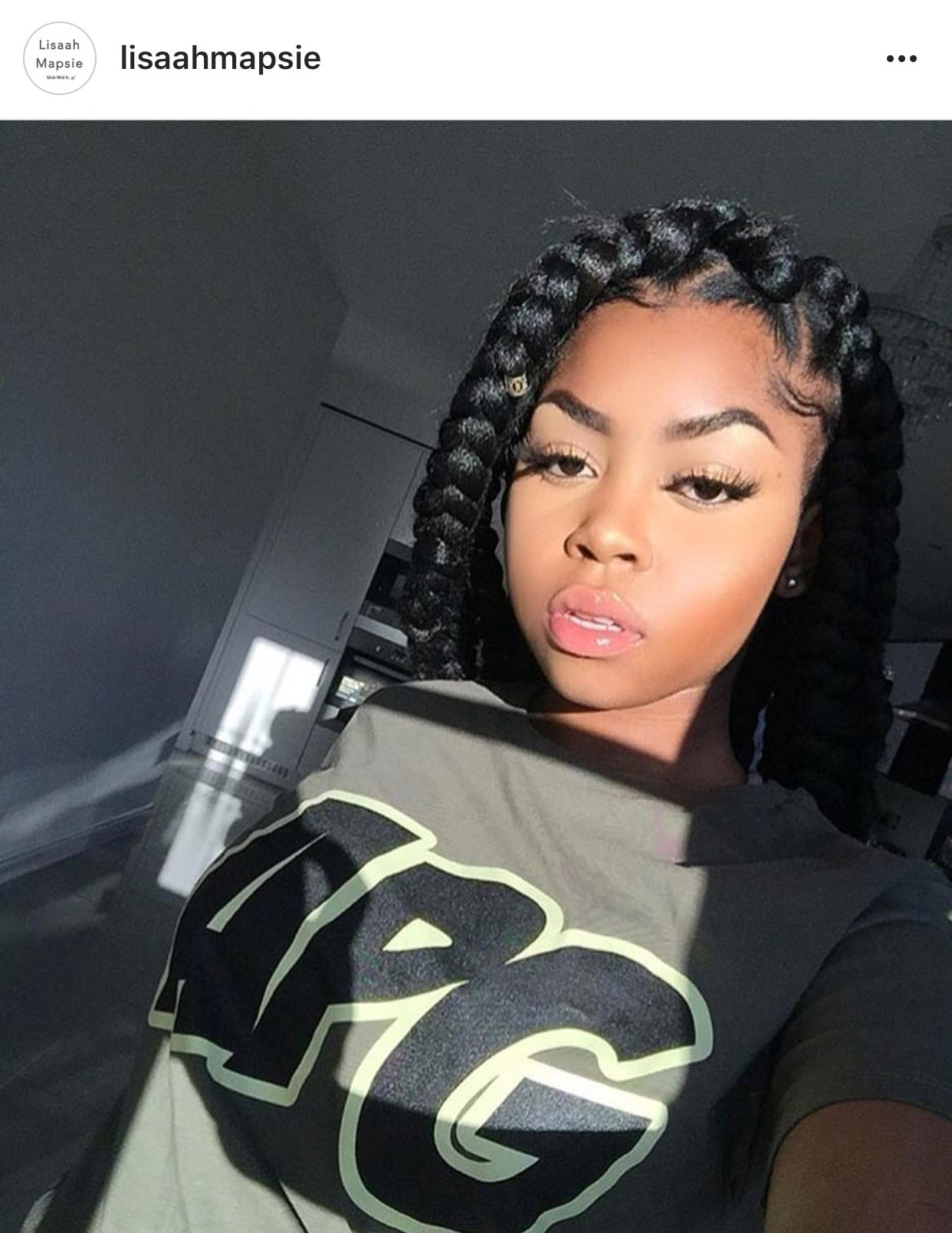 Pin by Sierra Edwards on Face beat  Pinterest  Big box braids