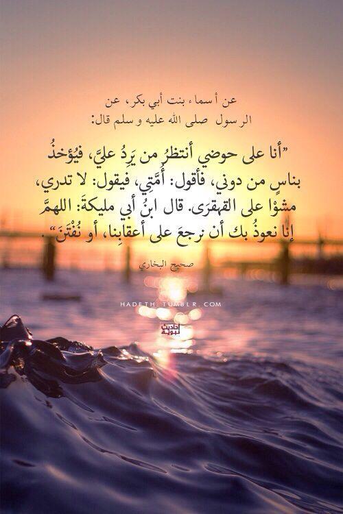 عن أسماء بنت أبي بكر عن الرسول صلى الله عليه وسلم قال أنا على