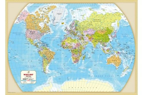 World map with major cities store mapsofworld pinterest buy poster size world map with major cities online in ai eps jpg and pdf format you can buy this map in printed and digital format by mapsofworld gumiabroncs Image collections