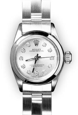 Ladies Stainless Steel Silver Dial Rolex Oyster Perpetual