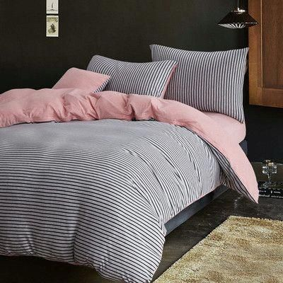 High quality 100% Cotton Knitted stripe fabric Duvet Covers, duvet covers, bedding sets,comforter sets, king/queen/full/twin size from UHHome