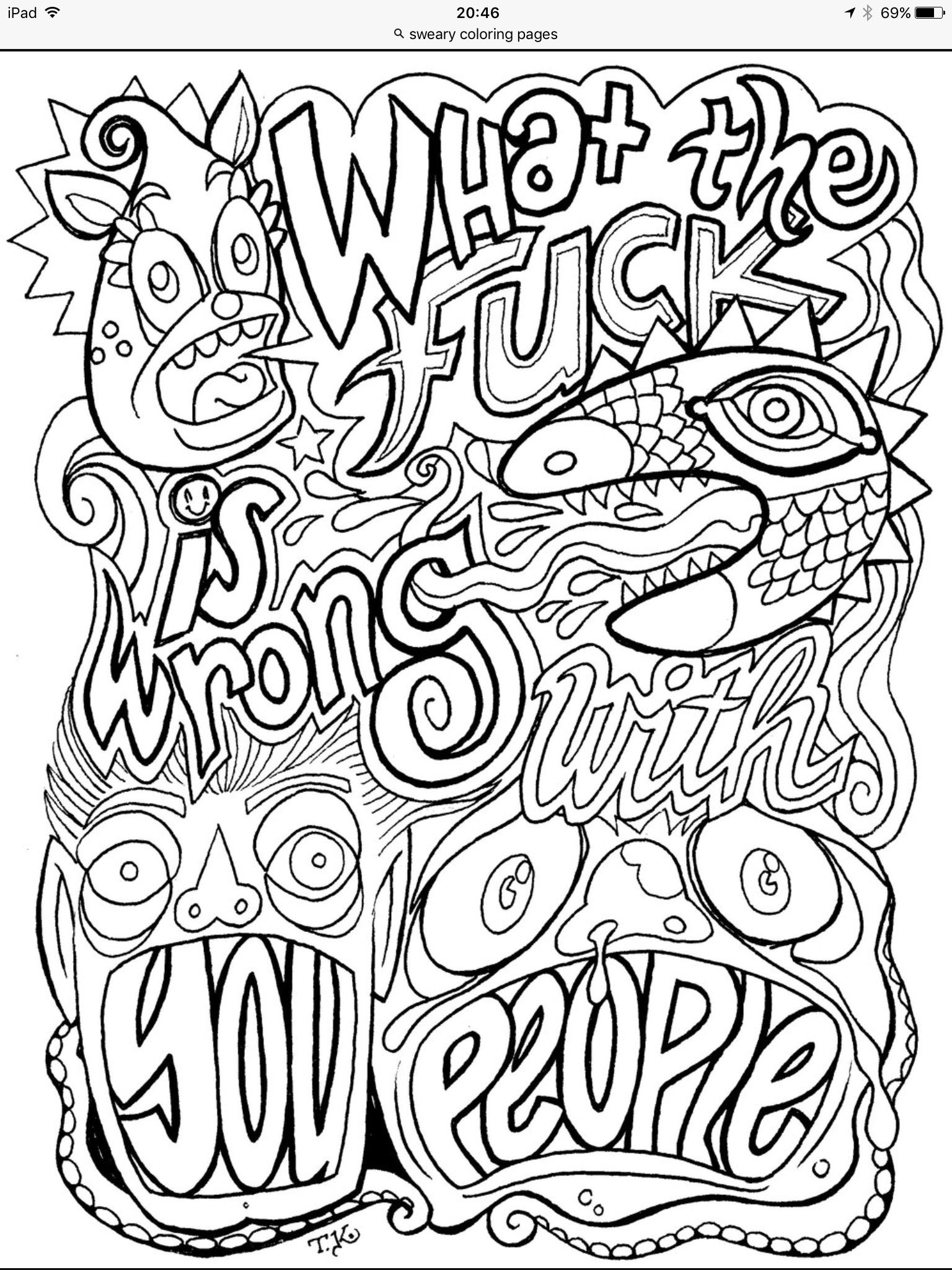 Pin By Mary Van De Ven On Coloring Book Words Coloring Book Adult Coloring Books Swear Coloring Pages