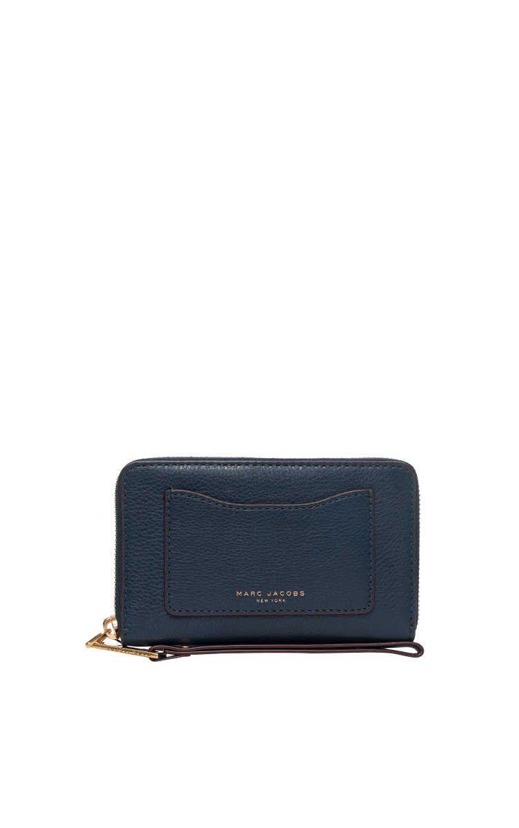 nytt billigt kvalitetsdesign ansedd webbplats Plånbok Recruit Zip Phone Wristlet NAVY BLUE - Marc Jacobs ...