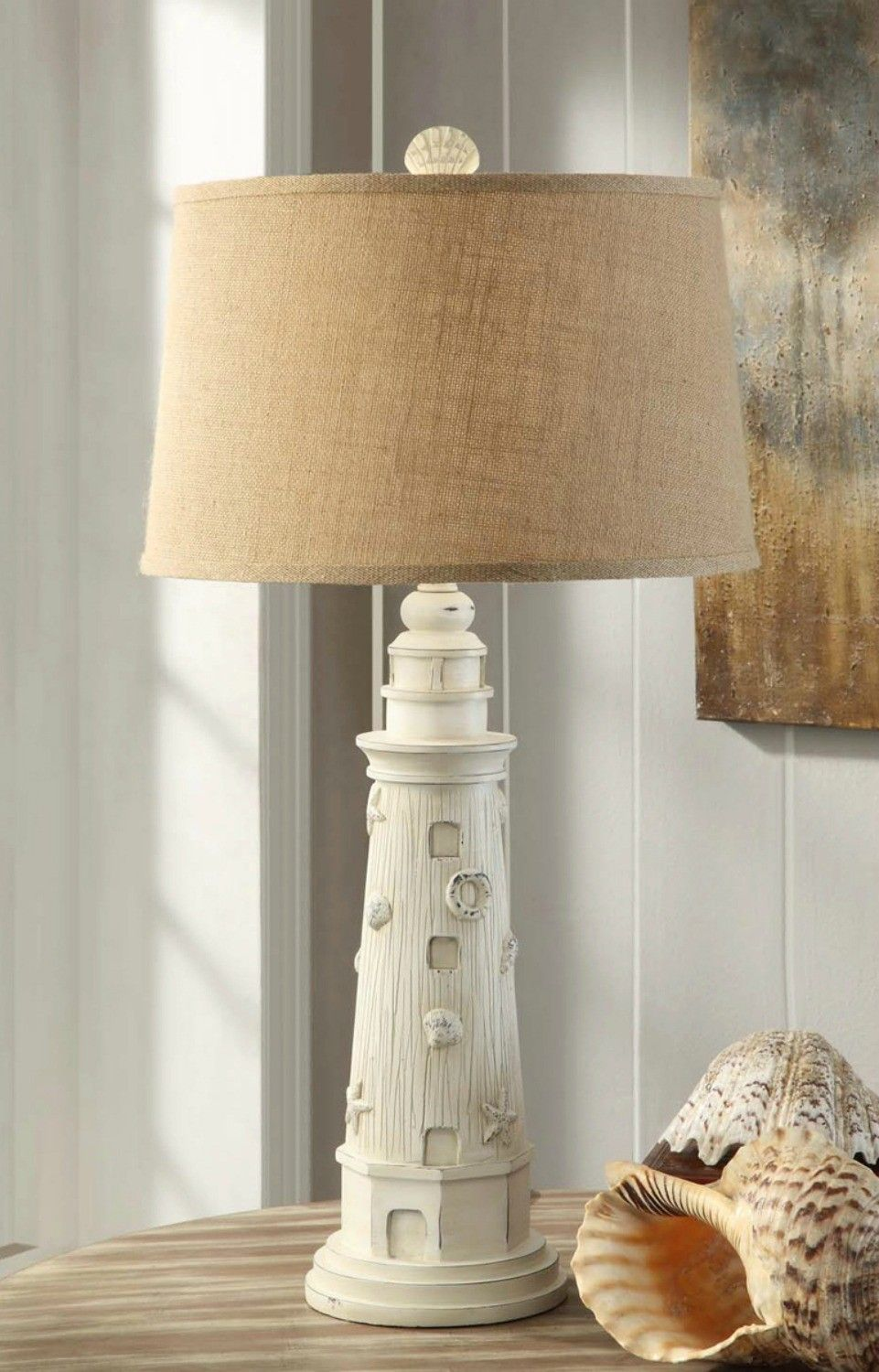 Guiding Lighthouse Table Lamp Cottage Pretty Lighthouse Decor Beach House Decor Lighthouse Lamp