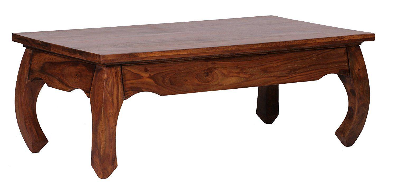 Bezaubernd Couchtisch Holz Massiv Foto Von Wohnling, Couchtisch, Massiv-holz Sheesham 110 Cm Breit