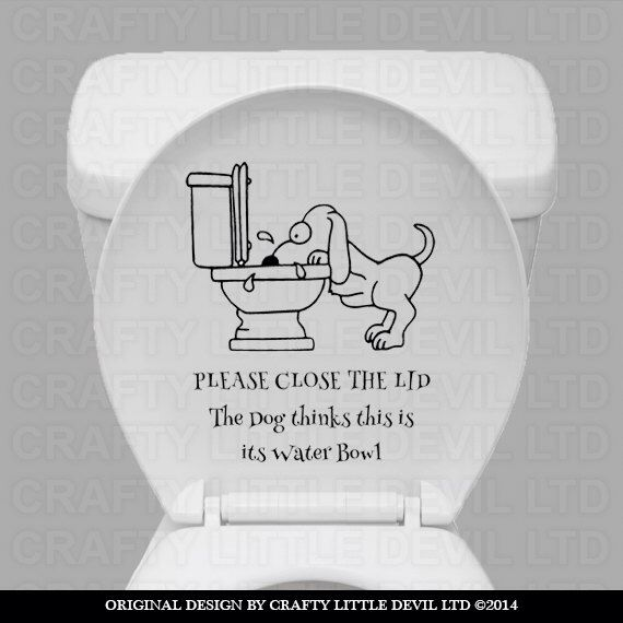Funny Dog Toilet Decal Family And Friends Will Love This Etsy Dog Toilet Bathroom Wall Stickers Funny Selfie Quotes