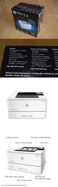 Brand New Hp Laserjet Pro M402dn Black And White Office Printer Black And White Office Printer Office Printers