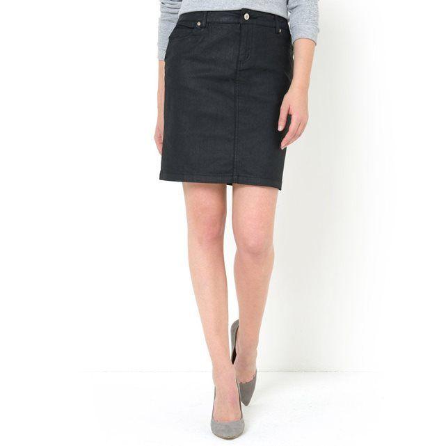 d11fb039360e7b Jupe droite en tissu enduit | SHOPPING | Jupe, Jupe droite et Mini jupe