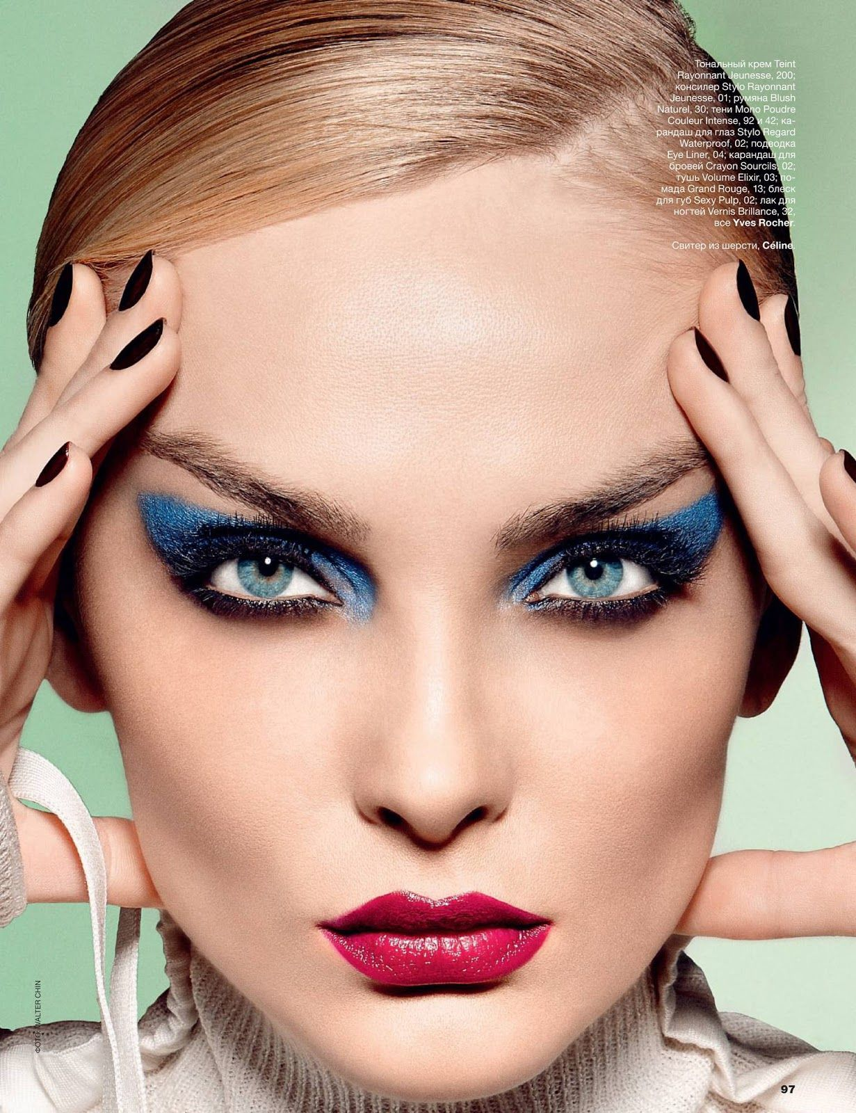 #Winged #eye #makeup #beauty snejana onopka by walter chin for allure russia february 2015