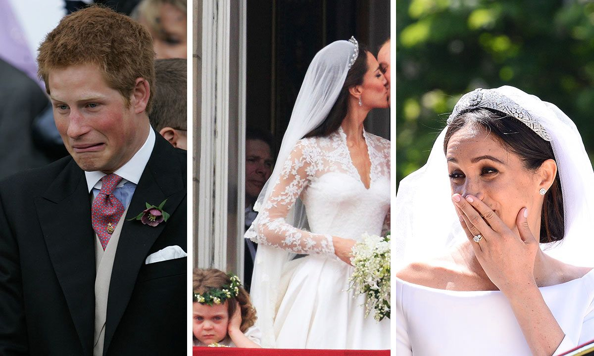12 hilarious royal wedding moments caught on camera in