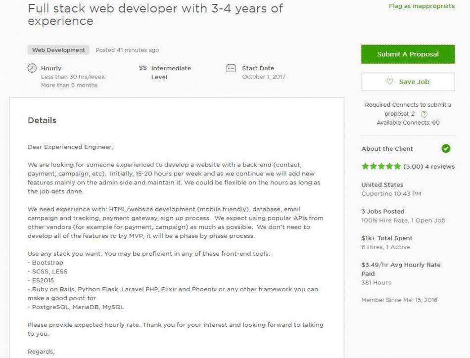 Freelance Web Developer Proposal Template Web Developer Cover Letter Resume Cover Letter Examples Professional Cover Letter Template