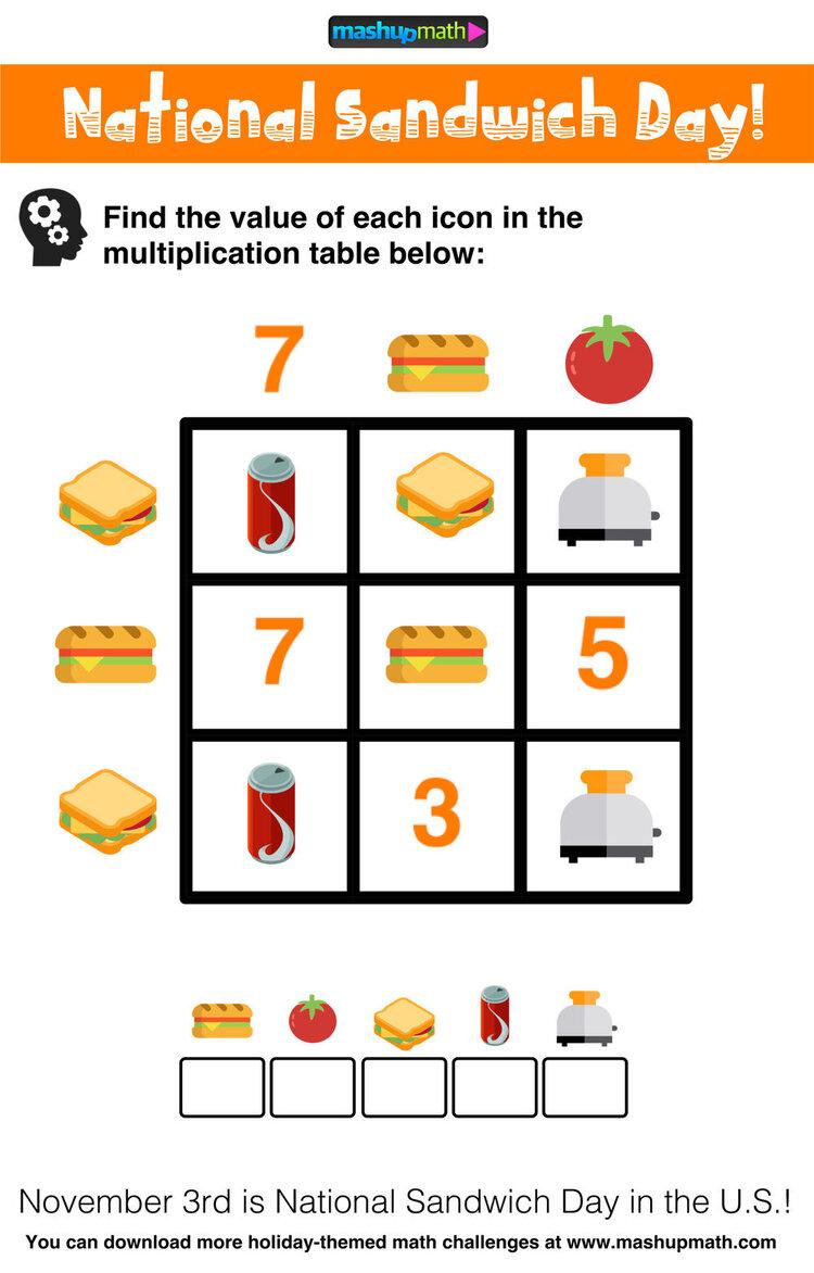 Multiplication Table Worksheets Free Printable Math Puzzles Mashup Math Math Challenge Maths Puzzles Math Worksheets [ 1172 x 750 Pixel ]