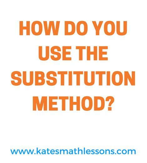 Solve a system of equations using substitution Algebra lessons - needs assessment