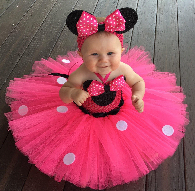 45df66f53 Minnie Mouse clásico inspirado Vestido de Tutu traje de  babytutudresses