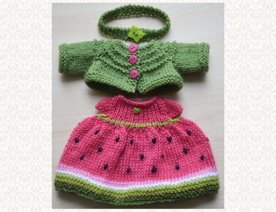 Knitted Doll Clothes Set 12 Inch Doll Outfit for Stuff Toy Clothing Knit Rabbit Doll Clothes Dress for Stuff Toy Gift #oyuncakbebekelbiseleri