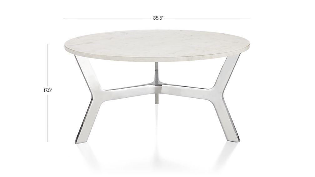 elke round marble coffee table