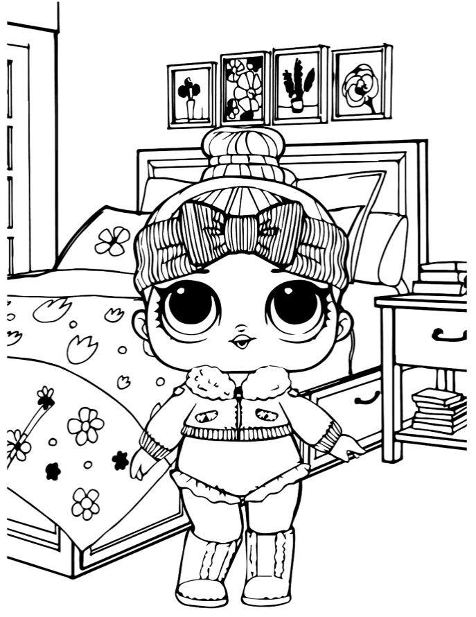 Раскраски «Куклы LOL» - «Кукла ЛОЛ 2 серия уютная малышка ...