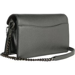 Coach Metallic Leather Tabby Chain Crossbody Bag Graphite in grün Umhängetasche für Damen CoachCoach #metallicleather