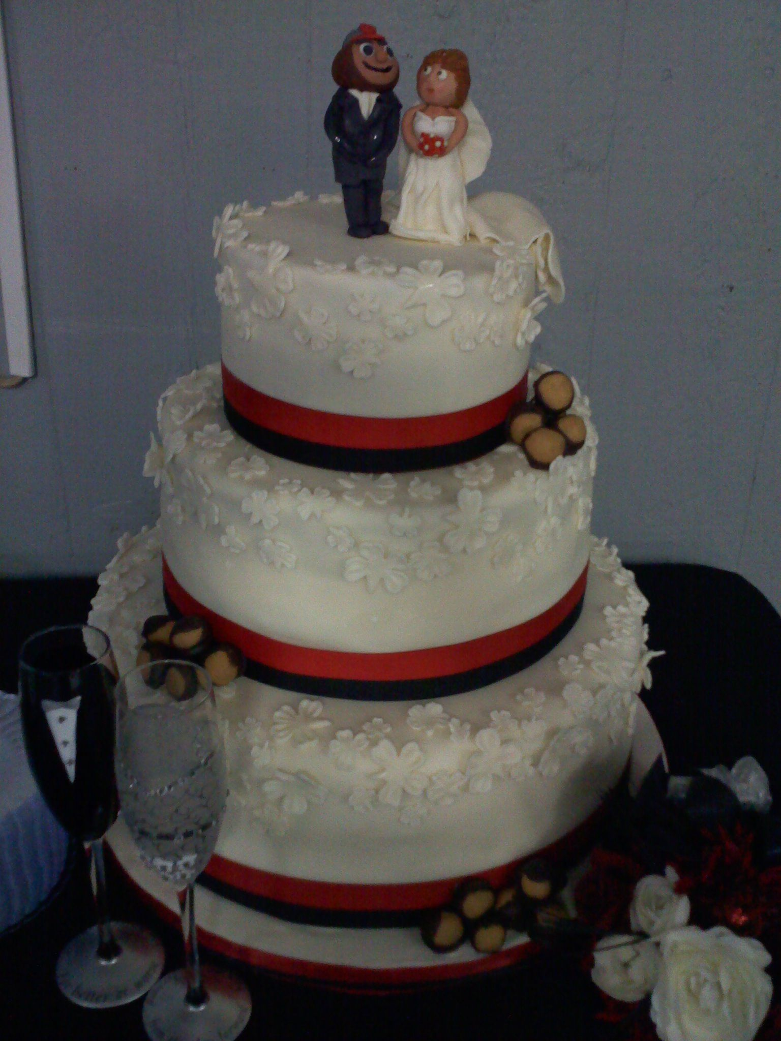 Wedding Cake Featuring Ohio State Brutus Groom