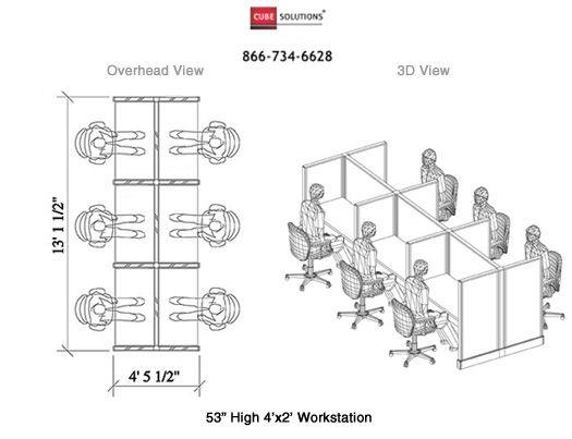 standard workstation dimension - Google Search | Office Furniture ...