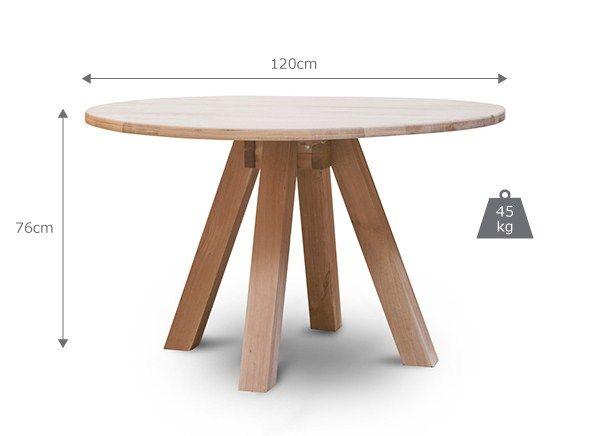 Hambledon Raw Oak Round Dining Table