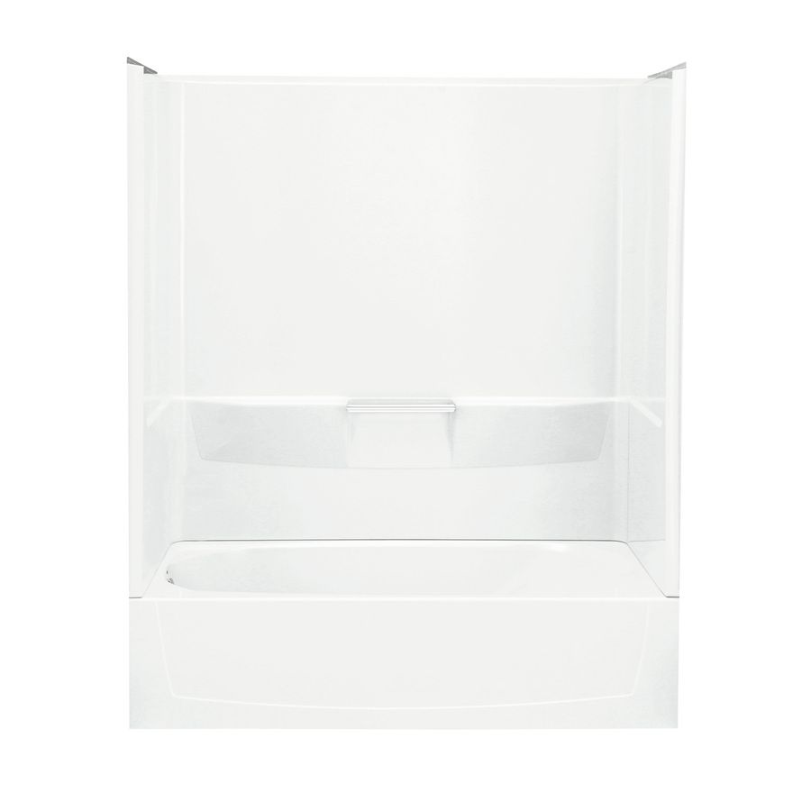 Sterling Performa White Vikrell Oval In Rectangle Alcove Bathtub with Left-Hand Drain (Common: 29-in x 60-in; Actual: 16.25-in x 29-in x 60-in)