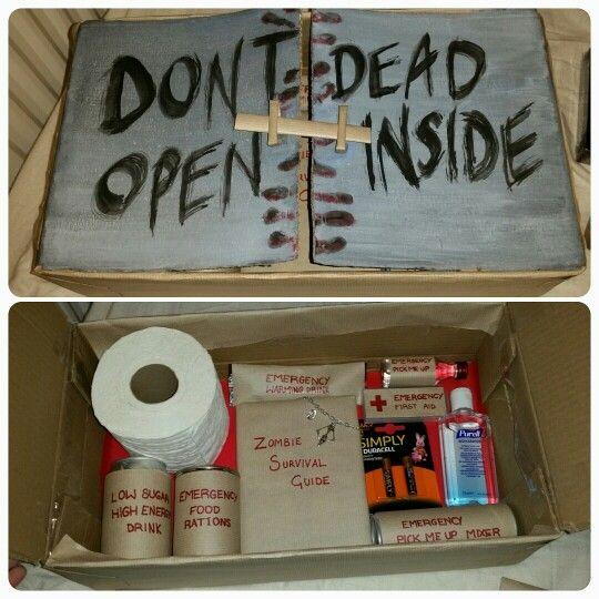 Zombie Survival Kit Christmas Present Walking Dead Zombie Survival Kit Zombie Gifts Zombie Survival Kit Diy