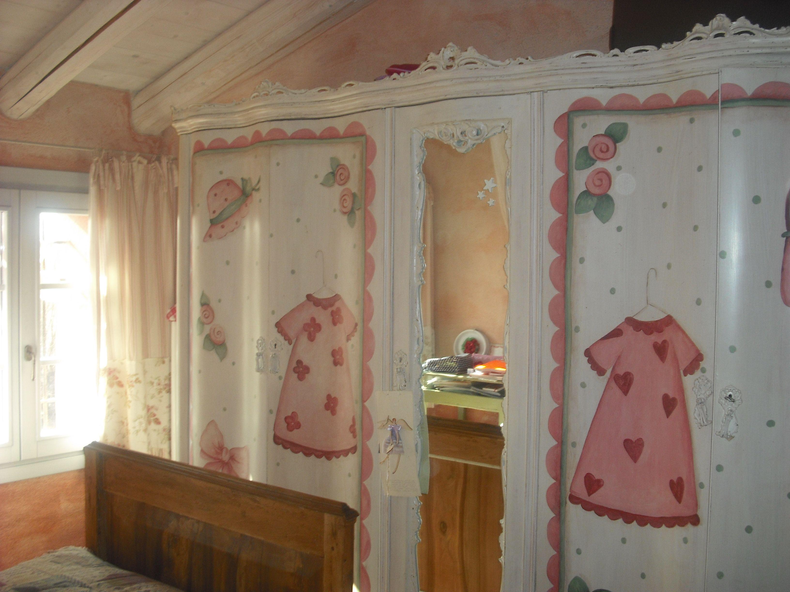 Armadio anni 50 39 decorato per la camera di una ragazza decorazioni home decor room e decor - Decorazioni camera ragazza ...