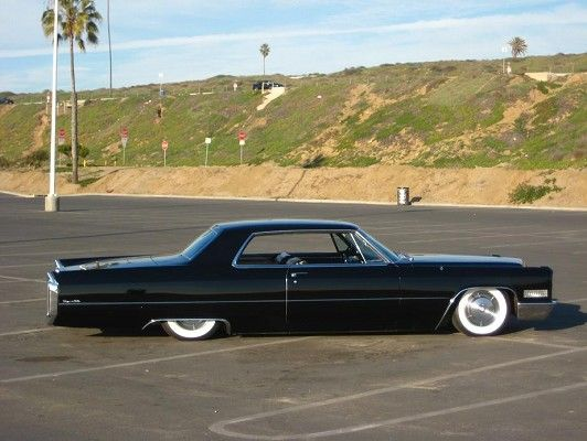 1966 Cadillac Coupe DeVille in black Evil on 4 wheels