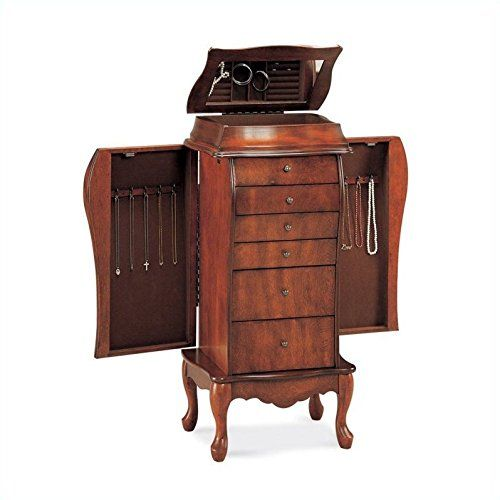 Coaster 900075 French Style Jewelry Armoire Cherry Furniture