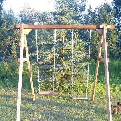 Swing set for children  Design and built by MJames Woodworking  http://www.facebook.com/mjames.woodworking.page