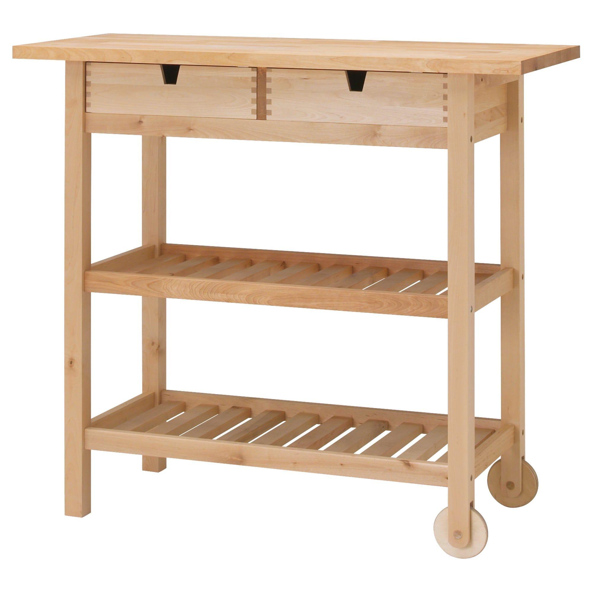 IKEA FORHOJA Birch Kitchen cart in 2019 | Ikea kitchen cart ...