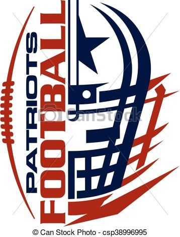 vector patriots football stock illustration royalty free rh pinterest com oakland raiders clipart free
