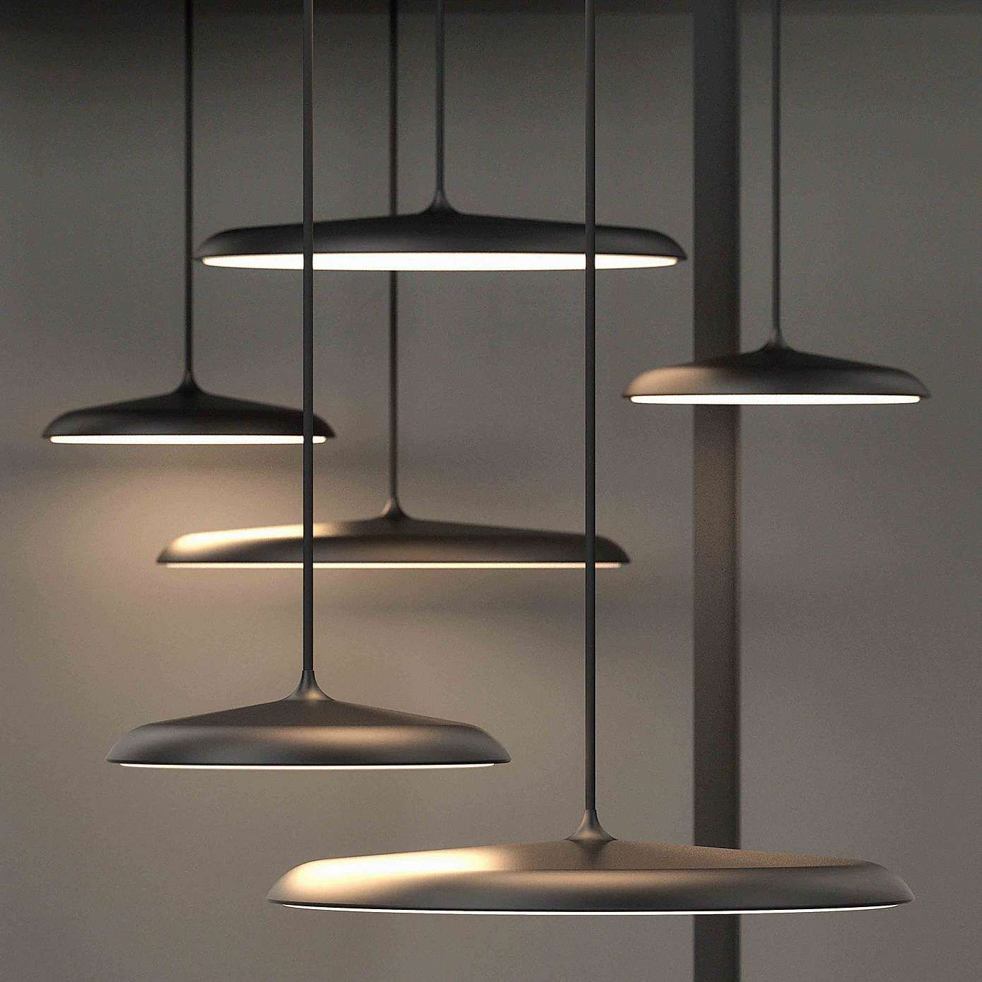 Artist Large Grey LED Pendant Light Fitting