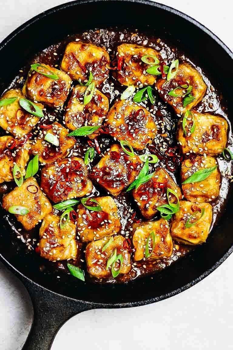 Paleo Crispy Sesame Tofu (SoyFree, Low Carb, Keto