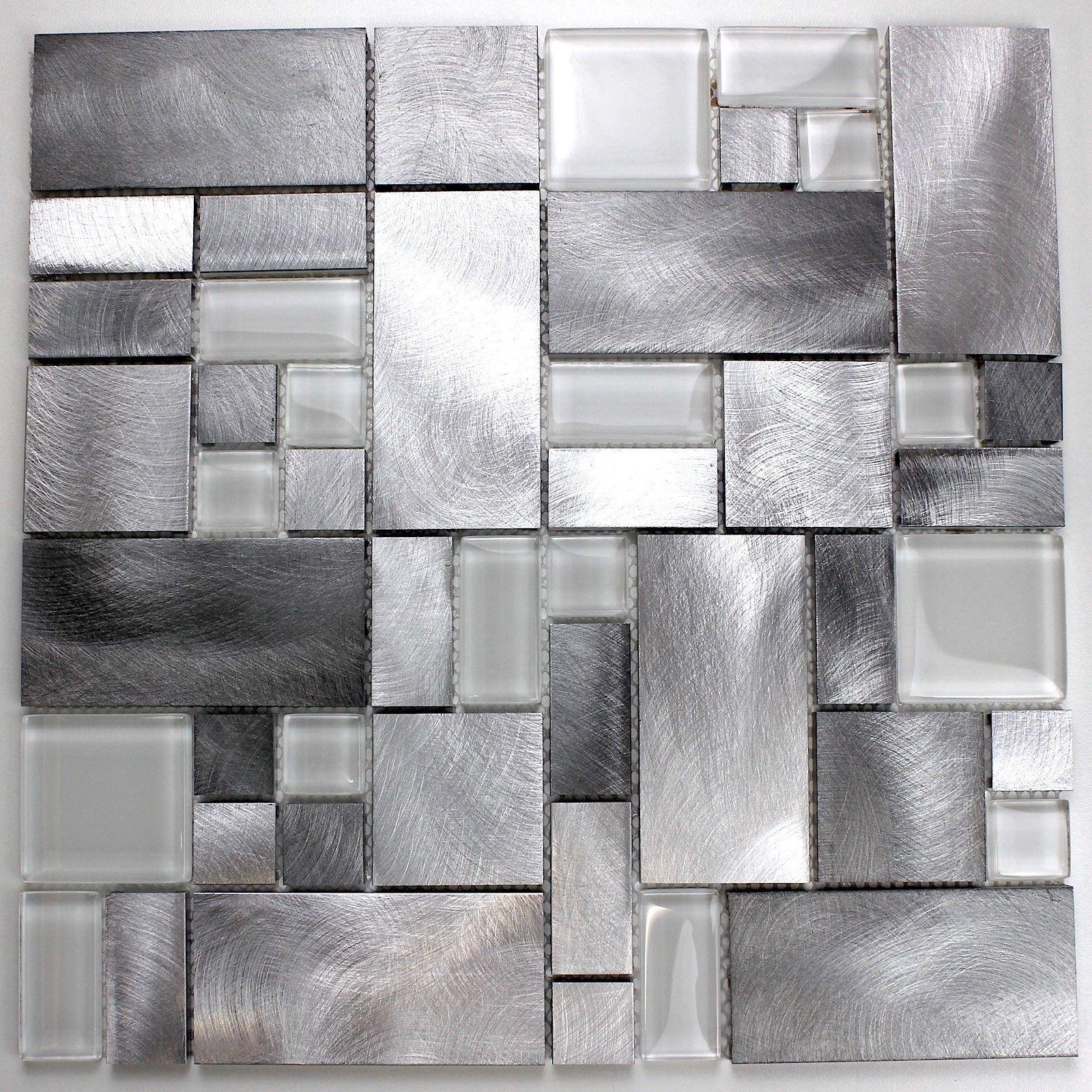 mosaique carrelage aluminium mur et sol aspen 14 10 s