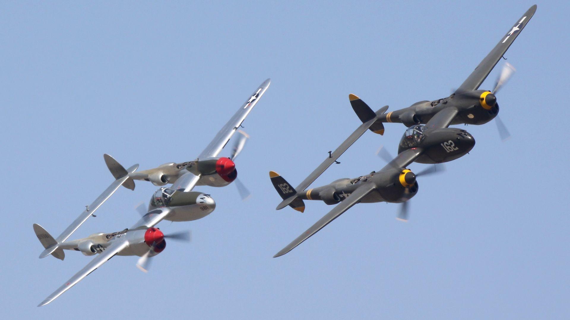 Lockheed P.38 Lightnings